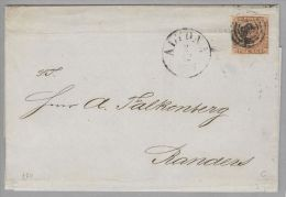 Dänemark 1854-12-02 Altona Brief Mit Mi#1IIc Fa#2DF Af#1 Nach Ranaers Befund G. - 1851-63 (Frederik VII)