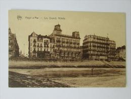 Cpa/pk Star Heyst S/mer - Les Grands Hotels - Heist