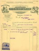 FACTURE LETTRE : MARSEILLE . A. CAUBET ET FILS . PRODUCTEURS ET TRITURATEURS DE FLEURS DE PYRETHRE . 1931 . - Frankrijk
