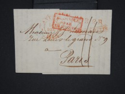 """FRANCE-Cachet Marque D 'entrée """" Belgique Par Valenciennes"""" Sur Lettre (avec Texte) De Anvers  En 1833  à Voir  P6147 - Poststempel (Briefe)"""