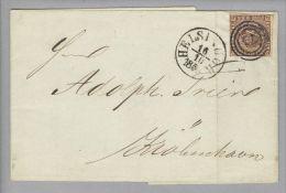 Dänemark 1853-10-16 Helsingör Brief Mit Mi#IIa Nach Kopenhagen - 1851-63 (Frederik VII)