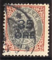 Dänemark 1912 Mi#61 I Gestempelt Aufdruck 35 Ore - 1905-12 (Frederik VIII)