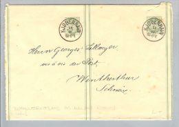 Dänemark 19??-10-13 Doppelstreifband > Winterthur CH - 1905-12 (Frederik VIII)