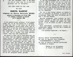 Souvenir Mortuaire BLANCKE Marcel (1898-1968) Geboren Te ZWEVEGEM Overleden Te KORTRIJK - Images Religieuses