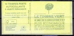 """CARNET N° 858-C2 Distributeur Ciappa 10ex 20g LV Mauvaise Decoupe Bande Supérieure / """"COUVERTURE LE TIMBRE VERT """" / NEUF - Carnets"""