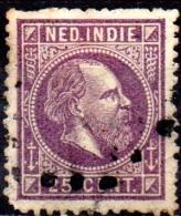 NETHERLANDS INDIES 1870 King William III - 25c  - Purple  FU - Niederländisch-Indien