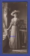 0104 / Cabinet Photo +/- 1910 - F.X. Ostermayr, Eichstätt - Schöne Dame Feine Mode, Hut U. Interieur - CAB - Groß Cdv - Anonyme Personen