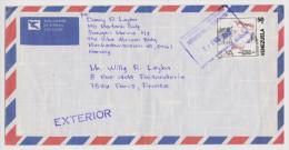 LETTRE VÉNÉZUÉLA EXTERIOR POUR PARIS FRANCE TELEGRAFICO 23 ENE 1992 TURNO DE LA TARDE OFFICINA PUNTO FIJO 2 Scans - - Venezuela