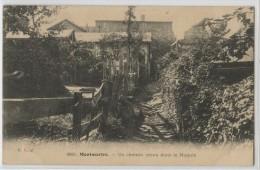 75018 - PARIS - MONTMARTRE - UN CHEMIN CREUX DANS LE MAQUIS - Arrondissement: 18