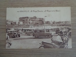 CPA 14 DEAUVILLE PLAGE FLEURIE LE ROYAL TENNIS VOITURES ANCIENNES CALECHE - Deauville