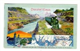 Chromo Pour Chocolat Klaus, Suisse, Panamakanal, Panama, Train, Bahn - Chocolat