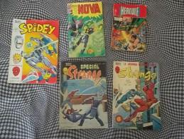 LOT 5 Comics VF: Nova 19, Strange 124, Spécial Strange 22, Spidey 47, Hercule 7...voir état Scans - Cote: 20 à 30 Euros - Strange