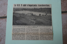 Coupure De Presse 1962 Travaux Bourassol RIOM MENETROL Ford Taunus Puy De Dôme 63 - Historical Documents