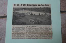 Coupure De Presse 1962 Travaux Bourassol RIOM MENETROL Ford Taunus Puy De Dôme 63 - Historische Documenten