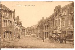 WARNETON QUARTIER DE LA GARE  CACHET  1927 Re 241 Paard En Wagen Attelage Marchand - Comines-Warneton - Komen-Waasten