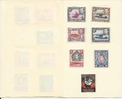 KENYA UGANDA TANGANYIKA - PLAQUETTE OFFICIELLE DES TIMBRES De La SERIE 1938/1950 - COTE De TIMBRES > 100 EUROS - Kenya, Uganda & Tanganyika