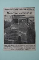 Coupure De Presse 1962 Camion M. FAYET SAINT SYLVESTRE PRAGOULIN Puy De Dôme 63 - Historische Dokumente