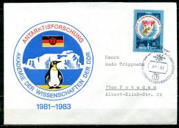 """DDR/UDSSR 1983 Sonderbeleg/Cover """"DDR-Antarktisforschung""""mit Mi.5048 U. SST""""Antarktisforschung-Akademie Der Wi..""""1 Beleg - DDR"""