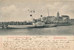 """BELGIQUE - BLANKENBERGHE - Le Steamer D'Excursion """" LE NELSON """" - Blankenberge"""