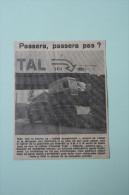 Coupure De Presse 1962 Convoi Exceptionnel à RIOM  Puy De Dôme 63 - Historische Documenten