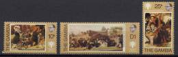 Gambia 1979 IYC, International Year Of The Child, Paintings Set Of 3 MNH - Arts