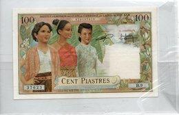 Institut D'émission Des Etats Du Cambodge , Du Laos Et Du Vietnam 100 Piastres - Billets