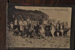 Cpa Saint Aubin Sur Mer (76) : Plaisir De La Plage à Marée Basse - France