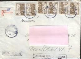 "Romania - Registered  Letter Circulated In1992 - Franking "" Rich ""  - 2/scans - Brieven En Documenten"