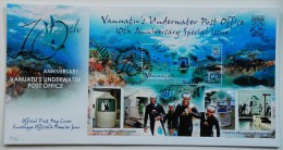 Vanuatu 2013, 10th underwater post office, fishes, diving, BF in FDC