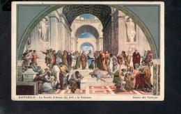 """N761 PITTURA, QUADRI: RAFFAELLO: LA SCUOLA D'ATENE ( VATICANO, VATICAN ) """"GIORGIO ZOJA CARTOLINE D´ARTE ITALIANA"""" - Paintings"""