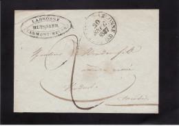 France - CLERMONT-EN-ARGONNE Pour VERDUN - Cachet 13 - 20 SEPT. 1837 - Sans Correspondance (voir Description) (Lot LF 6) - Postmark Collection (Covers)