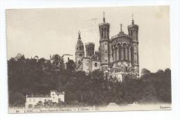 CPA 69 Notre Dame De Fourviere Flamme + Cachet Exposition De LYON 1914 - Port Simple Gratuit - Lyon