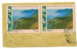 Italia 2013; Parco Delle 5 Terre , Due Esemplari , Su Spezzone Per Controllare La Data . Timbrati - 6. 1946-.. Repubblica