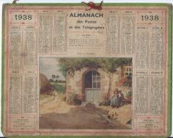 Calendrier/Almanach Des Postes Et Télégraphes/Ferme En Normandie/Oberthur/1938   CAL199 - Big : 1921-40