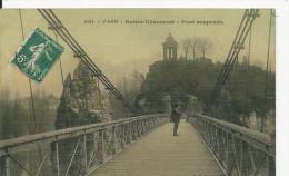 Paris   Buttes- Chaumont   Pont Suspendu   Carte  Toilée - Frankreich
