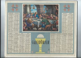 Calendrier/Indicateur  Des Postes Et Télécommunications/La Céne De Bassano/Oberthur/1963  CAL200 - Calendriers