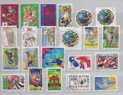 FRANCE ANNEE 1998 22 TIMBRES : FOOTBALL CHEVAUX AUTO CONSTITUTION 1918 ETC... - Frankreich