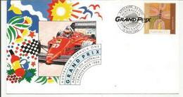 Australian Grand Prix F1. Année 1986.  équipe De Ferrari Michele Alboreto. , Lettre Adressée Aux Etats-Unis - Automobile