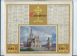 Calendrier/Indicateur  Des Postes Télégraphes Et Téléphones/Sainte-Anne D'Auray/Oberthur/1962  CAL201 - Big : 1961-70