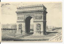 Paris   Dessin à La Plume   Arc De Triomphe  Illustrateur  A Goulon - Frankrijk