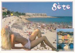Nu Sur La Plage De SETE - Nus Adultes (< 1960)