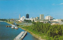 On The Mississippi River Skyline Of Baton Rouge Louisiana