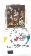 """Italia 2014; Natale Religioso Con Codice Alfanumerico ; Annullo """" Natale 2014 """" , Su Spezzone. - 6. 1946-.. Repubblica"""