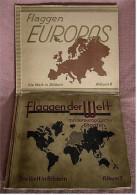 2 Vollständige Sammelbilderalben , Flaggen Europas + Flaggen Der Welt - Sammelbilderalben & Katalogue