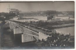 Nr.  477,Original  FOTO-AK,  Grodno Mit Brücke Und Soldaten Und Artillerie, August 1917 - Belarus