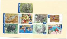 Australia International POST : Piece Of Envelope Arrived With Stamps Uncanceled. Busta Arrivata Senza Annulli - 2000-09 Elizabeth II