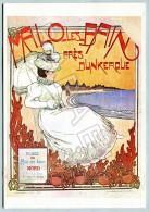 Affiche Sur Carte Postale - Malo Les Bains (Près De Dunkerque) (Illustration De P. Herpin) - Publicité