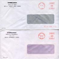 Lot 2 Enveloppes,EMA Havas P-72639,P-70178,Tréfilunion,Usine De Creil,Oise,usine De Commercy,Meuse,lettre 30.5.1984 - Factories & Industries