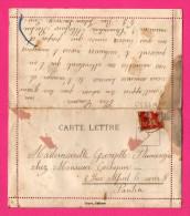 Carte Lettre - Fantaisie - Double Volets - Hirondelles - TOYRE - Marcofilie (Brieven)