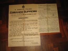 PRIMA GUERRA MONDIALE 2 MANIFESTI A FIRMA  DIAZ CADORNA 1917 - Afiches